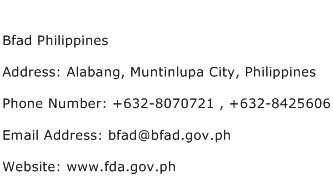 Bfad Philippines Address Contact Number
