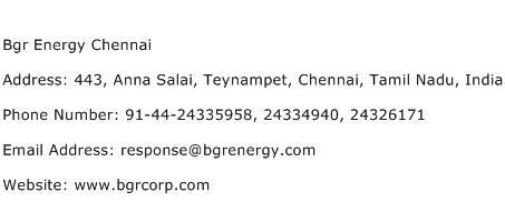 Bgr Energy Chennai Address Contact Number