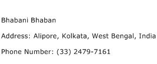 Bhabani Bhaban Address Contact Number