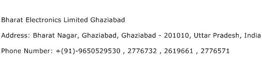 Bharat Electronics Limited Ghaziabad Address Contact Number