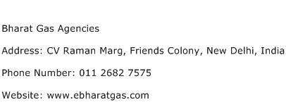 Bharat Gas Agencies Address Contact Number