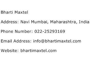 Bharti Maxtel Address Contact Number