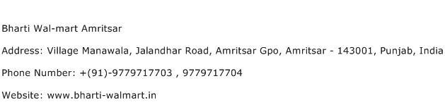 Bharti Wal mart Amritsar Address Contact Number