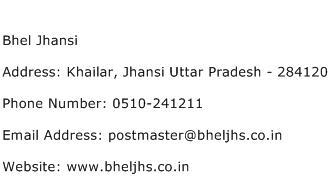 Bhel Jhansi Address Contact Number