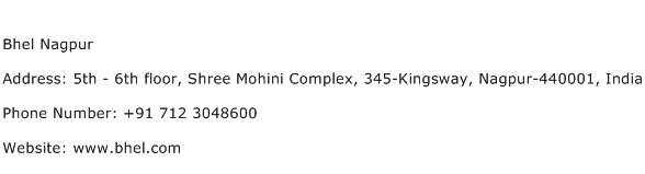 Bhel Nagpur Address Contact Number