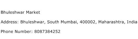 Bhuleshwar Market Address Contact Number