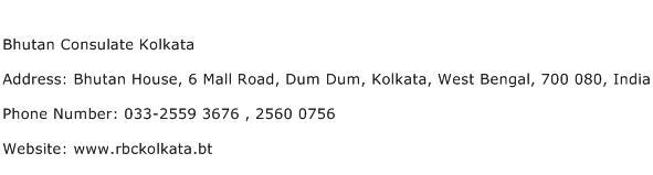 Bhutan Consulate Kolkata Address Contact Number
