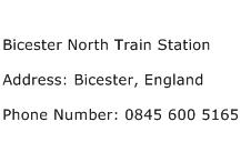 Bicester North Train Station Address Contact Number