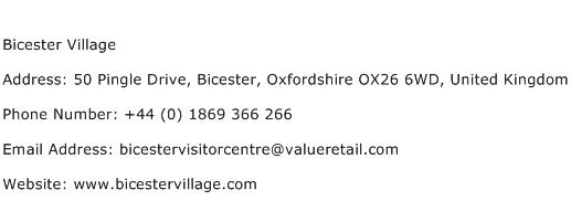 Bicester Village Address Contact Number
