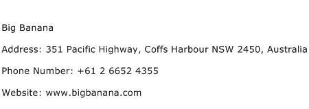 Big Banana Address Contact Number