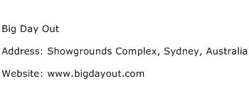 Big Day Out Address Contact Number
