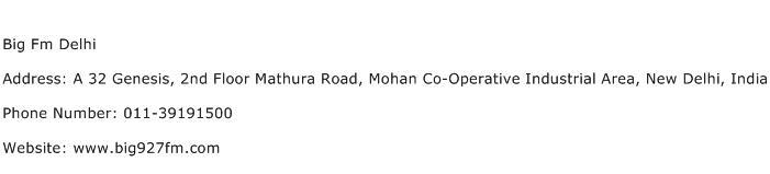 Big Fm Delhi Address Contact Number