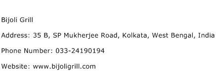 Bijoli Grill Address Contact Number