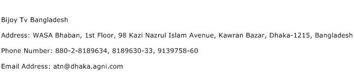 Bijoy Tv Bangladesh Address Contact Number