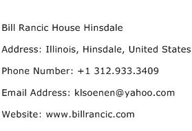 Bill Rancic House Hinsdale Address Contact Number