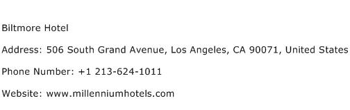 Biltmore Hotel Address Contact Number
