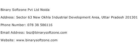Binary Softzone Pvt Ltd Noida Address Contact Number