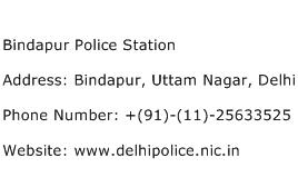 Bindapur Police Station Address Contact Number