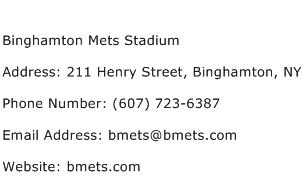 Binghamton Mets Stadium Address Contact Number