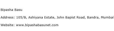 Bipasha Basu Address Contact Number