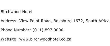 Birchwood Hotel Address Contact Number