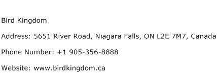Bird Kingdom Address Contact Number