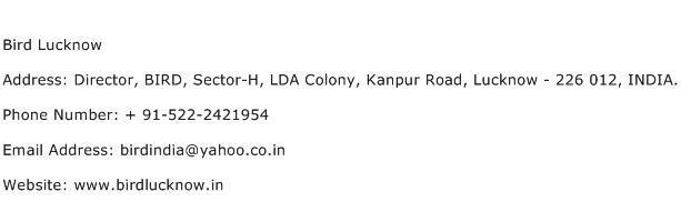 Bird Lucknow Address Contact Number