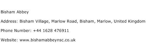 Bisham Abbey Address Contact Number