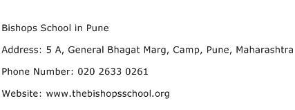 Bishops School in Pune Address Contact Number