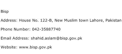 Bisp Address Contact Number