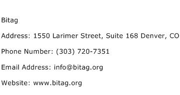 Bitag Address Contact Number