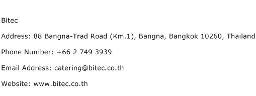 Bitec Address Contact Number