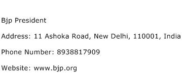 Bjp President Address Contact Number