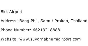 Bkk Airport Address Contact Number