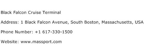 Black Falcon Cruise Terminal Address Contact Number