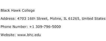 Black Hawk College Address Contact Number