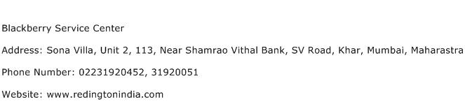 Blackberry Service Center Address Contact Number