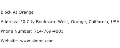 Block At Orange Address Contact Number
