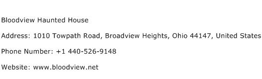 Bloodview Haunted House Address Contact Number