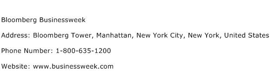 Bloomberg Businessweek Address Contact Number