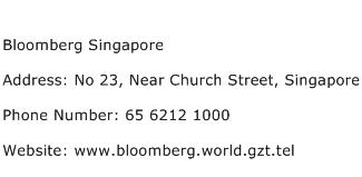 Bloomberg Singapore Address Contact Number
