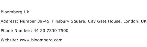 Bloomberg Uk Address Contact Number