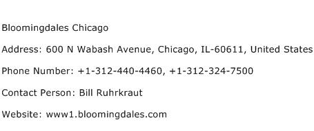 Bloomingdales Chicago Address Contact Number