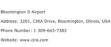 Bloomington Il Airport Address Contact Number