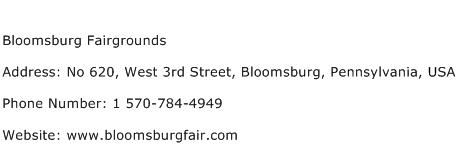 Bloomsburg Fairgrounds Address Contact Number