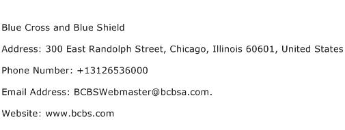 Blue Cross and Blue Shield Address Contact Number