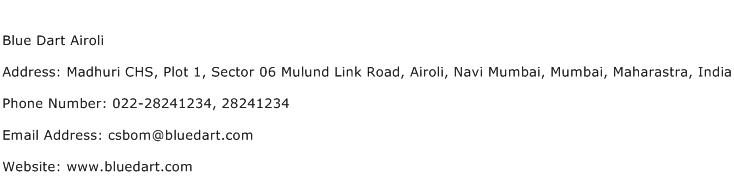 Blue Dart Airoli Address Contact Number