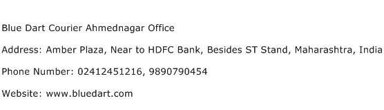 Blue Dart Courier Ahmednagar Office Address Contact Number