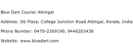 Blue Dart Courier Attingal Address Contact Number