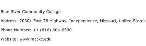Blue River Community College Address Contact Number